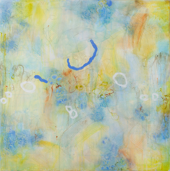 """The Energy of Renewal 1"", 36""x36""X1.5"". Available from the Artist."